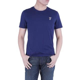 Versace Collection Men's Blue Crew Neck Medusa Cotton Short Sleeve T-Shirt https://ak1.ostkcdn.com/images/products/10565037/P17642758.jpg?impolicy=medium