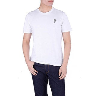 Versace Collection Men's White Crewneck Medusa Short Sleeve T-Shirt