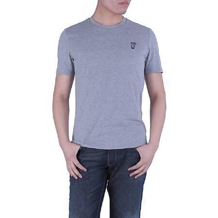 Versace Collection Men's Heather Grey Crewneck Medusa Short Sleeve T-Shirt