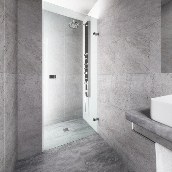 Shop Vigo Tempo 24 Inch Adjustable Frameless Shower Door