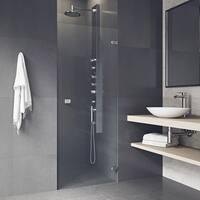 VIGO Tempo 24-inch Adjustable Frameless Shower Door Clear/Stainless Steel