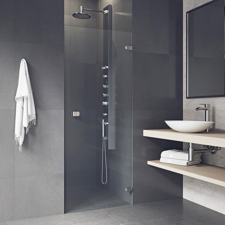 Vigo Tempo Clear Adjustable Frameless Shower Door