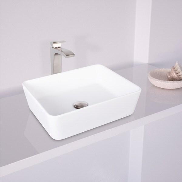 Delicieux VIGO Marigold Matte Stone Vessel Sink And Blackstonian Bathroom Brushed  Nickel Vessel Faucet