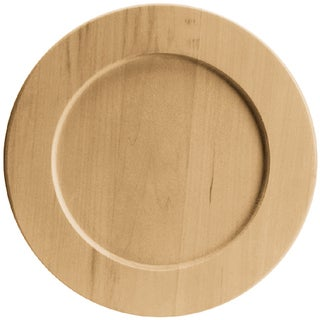 Basswood Round Plate9.5inX9.5in