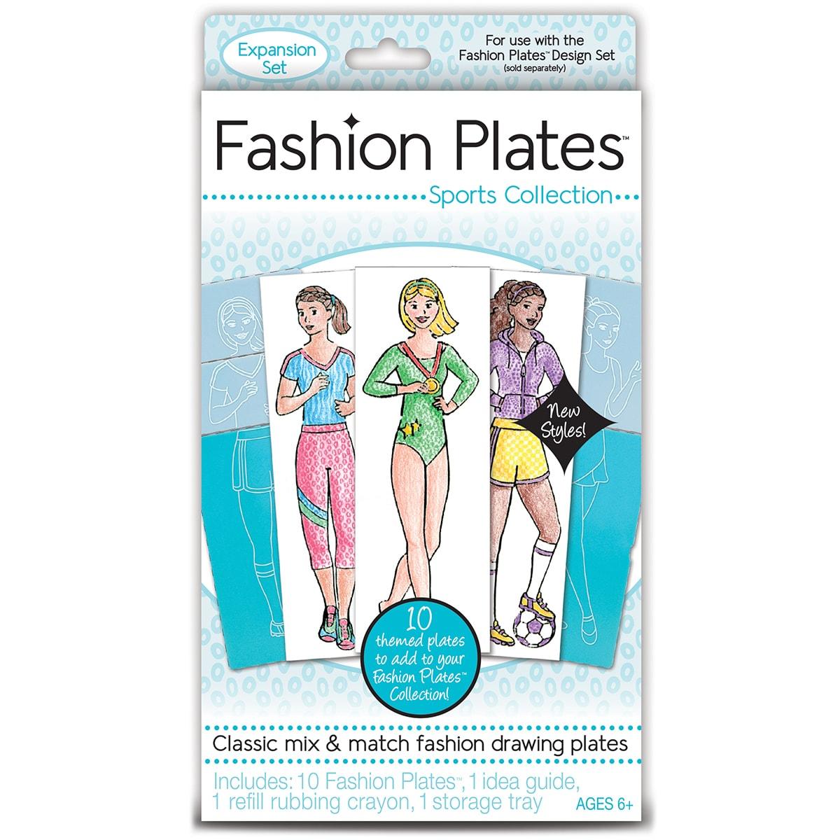 Unbranded Kahootz Fashion Plates KitSports (Sports)