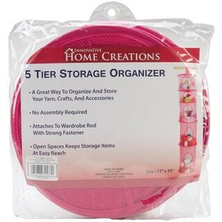 5 Tier Storage Organizer 12inX59inFuchsia