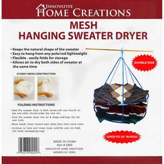Mesh Hanging Sweater Dryer26in White