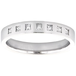 14k White Gold 1/4ct TDW Wedding Band