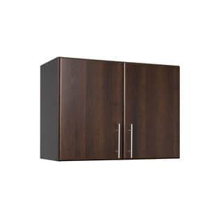 Everett Espresso Elite 32-inch Stackable Wall Cabinet