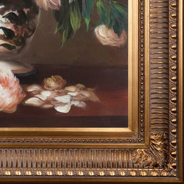 Vase with Peonies by Manet Giclee Fine ArtPrint Repro on Canvas Still Life