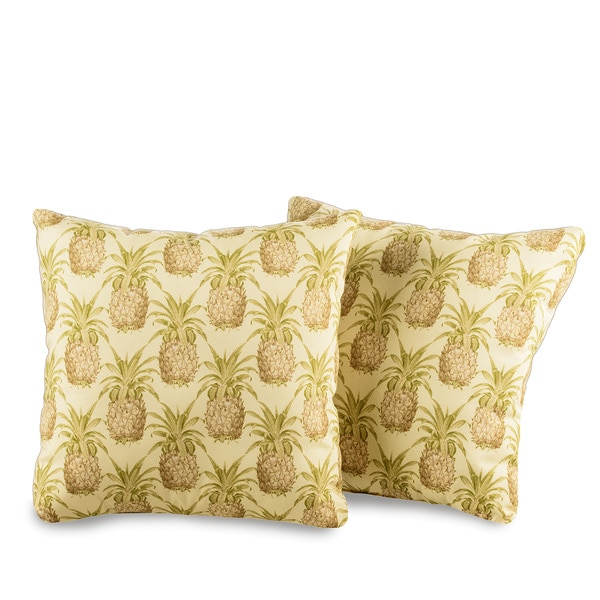 Outdoor Decorative Pillow Sets : Pineapple Decorative Outdoor Throw Pillows (Set of 2) - Free Shipping On Orders Over $45 ...