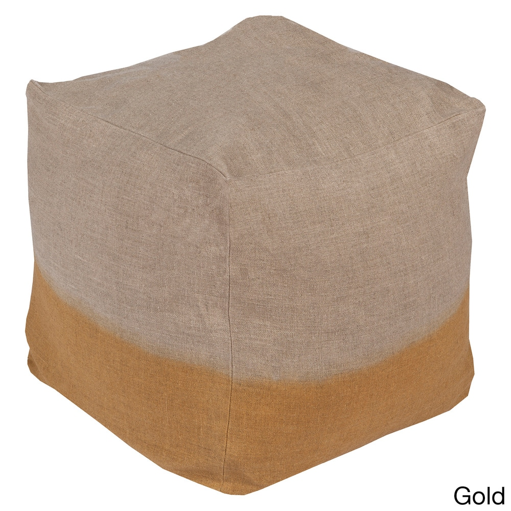 Shop Solid Lada Square Linen 18-inch Pouf - Overstock - 10565386