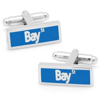 Silvertone Bay Street Cufflinks