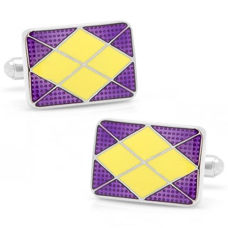 Silverplated Lafayette Argyle Cufflinks
