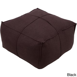 Solid Cleo Square Linen 24-inch Pouf (More options available)