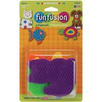 Perler Fun Fusion Pegboards 4/PkgDog/Fish/Cat/Turtle