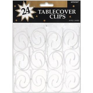 Tablecover Clips 24/PkgClear Plastic