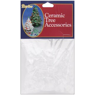 Ceramic Christmas Tree Bulbs .625in 100/PkgFlame Clear