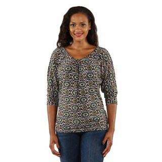 24/7 Comfort Apparel Women's Fall Mosaic Tunic