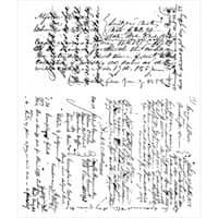 Tim Holtz Cling Rubber Stamp Set 7inX8.5inLedger Script