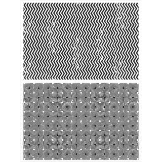 Tim Holtz Cling Rubber Stamp Set 7inX8.5inZigzag & Diamonds