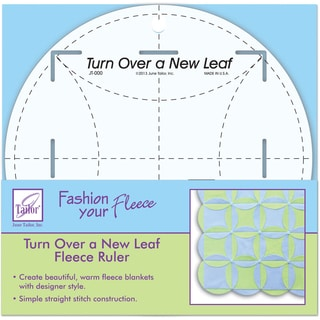 Turn Over A New Leaf Ruler8in Round