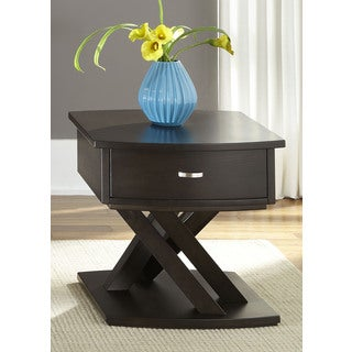 Southpark Charcoal Bow Front End Table