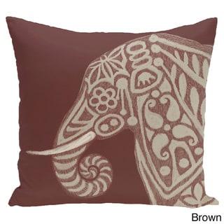 Inky Animal Print 28x28-inch Floor Pillow (Brown)