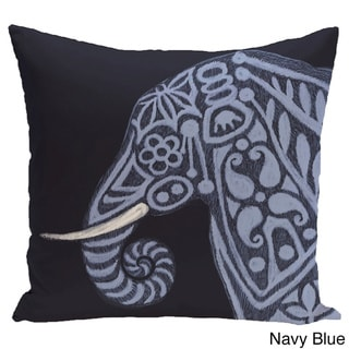 Inky Animal Print 28x28-inch Floor Pillow (Navy Blue)