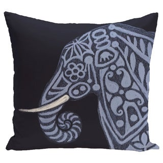 Inky Animal Print 28x28-inch Floor Pillow
