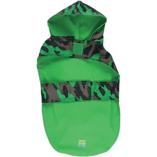 Jelly Wellies Camouflage Raincoat Large 17inGreen