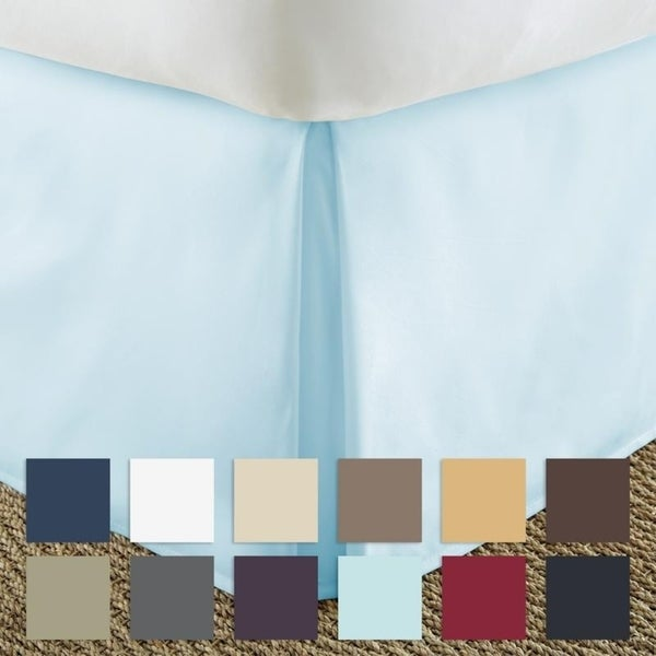 Merit Linens Premium 14-inch Drop Pleated Bed Skirt