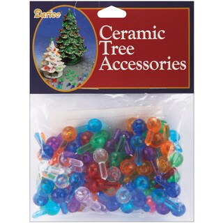 Ceramic Christmas Tree Bulbs .5in 100/PkgMedium Globe  Multicolor