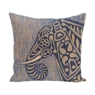 Inky Blue, Grey Animal Print 28x28-inch Floor Pillow