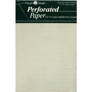 Perforated Paper 14 Count 9inX12in 2/PkgWhite