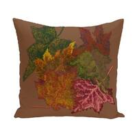 Autumn Leaves Flower Print 28x28-inch Floor Pillow