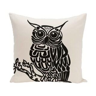 Hootie Animal Print 28x28-inch Floor Pillow