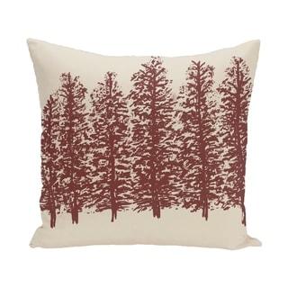 Through The Woods Flower Print 28x28-inch Floor Pillow