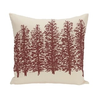 Through The Woods Flower Print 28x28-inch Floor Pillow (Option: Purple)