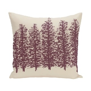 Through The Woods Flower Print 28x28-inch Floor Pillow (Purple)