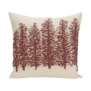 Through The Woods Flower Print 28x28-inch Floor Pillow (Brown)