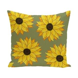 Sunflower Power Flower Print 28x28-inch Floor Pillow