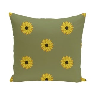 Sunflower Frenzy Flower Print 28x28-inch Floor Pillow