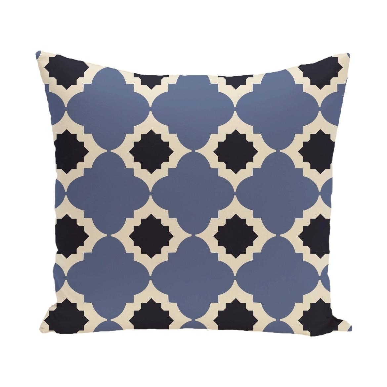 Medina Geometric Print 28x28-inch Floor Pillow (Grey)
