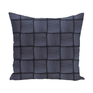 Basketweave Geometric Print 28x28-inch Floor Pillow