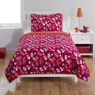 Japanese Dolls Twin 2-piece Quilt Set