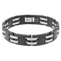 Stainless Steel Men's Bracelet with Brushed Finish