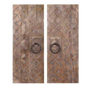 Alba Wood Carved Wall Panels (Set of 2)