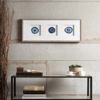 Madison Park Blue Agate Trio Framed Graphic
