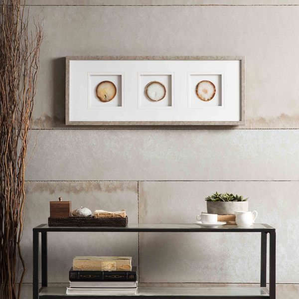 Madison Park Natural Agate Trio Framed Graphic